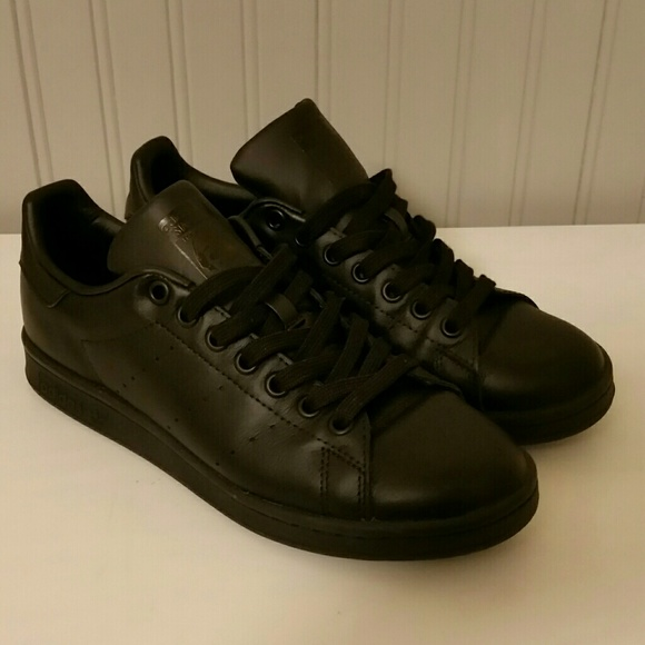 sports shoes 0c167 ff12b adidas Stan Smith all black Men's size 6.5